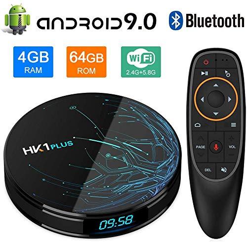 DOOK TV Box,Android 9.0 HK1 Plus TV Box, 4GB/64GB Amlogic S905X2 Quad Core ARM Cortex A53 Voice Remote Control 3D 4K UHD…