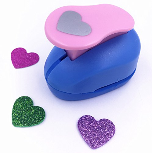 TECH-P Creative Life Shape Size (2cm-2.5cm) Multi-pattern Hand Press Album Cards Paper Craft Punch,card Scrapbooking Engraving Kid Cut DIY Handmade Hole Puncher,Paper Craft Punch. (Heart)