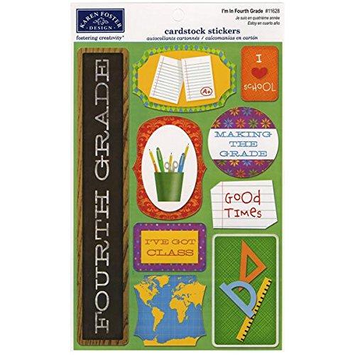 KAREN FOSTER Cardstock Stickers-I'm in Fourth Grade