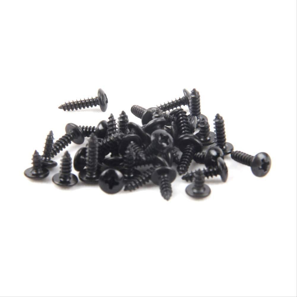 ATNEET///Testa a fungo croce Testa in acciaio al carbonio nero Viti autofilettanti elettroniche per legno M3x10 100 pezzi neri