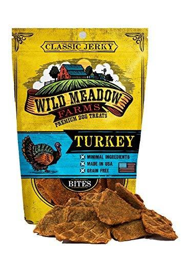 Wild Meadow Farms - Classic Turkey Bites - USA Made Soft Jerky Dog Treats ()