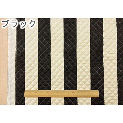 キルティング生地 5.5cm幅のストライプ柄 ブラック おしゃれなマリンテイストのキルト布【1m単位】