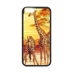 """JCCFAN Giraffe Phone Case For iPhone 6 Plus (5.5"""") [Pattern-1]"""