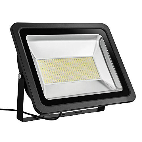 Coolkun 300W LED Flood Lights,Super Bright Work Lights,Warm White Outdoor and Indoor IP65 Waterproof Security Light for Garage, Garden, Lawn and Yard Review