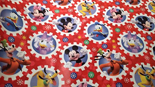 [Christmas Wrapping Minnie Mouse Mickey Daisy Daffy Duck Goofy Holiday Paper Gift Greetings 1 Roll Design Festive Wrap Disney] (Daisy Duck Costumes For Toddlers)