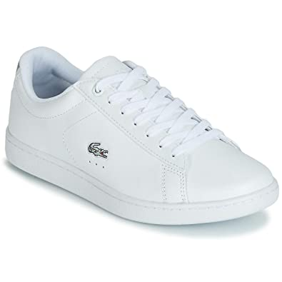 f52c81f0fd Lacoste, Carnaby Evo 219 1 White 37SFA0018, Baskets Blanches pour Femmes,38