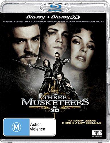 The Three Musketeers 3D Blu-ray | NON-USA Format | Region B Import - Australia