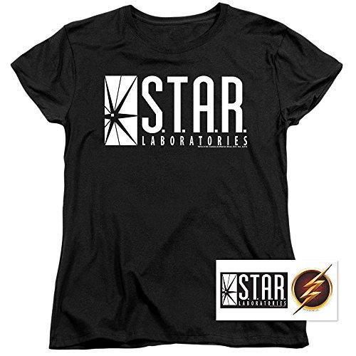Women's Flash Superhero Star Labs T Shirt (X-Large)