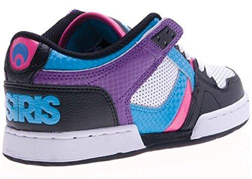 Osiris Skateboard Shoes --NYC 83 Low Girls- Black/Cyan/Purple