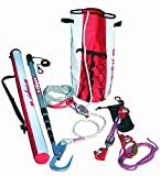 3M DBI-SALA Rollgliss R250 8900294 Rollgliss R250 Rescue Kit with Assisted Pole, Rope, Descender, Anchor Strap and Carrying Bags, Red/White
