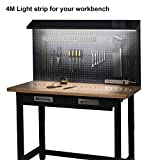Led Workbench Light,ViLSOM 4M/13Ft Workbench Light Bar,Lights for Work Bench with Dimmer and Power Supply Adaptor for Work Bench,Display Case,Garage Or Shelf.