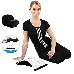 Magic Back Stretcher Lumbar Support Device Posture Corrector For Upper and Lower Back Pain Relief - White