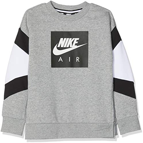 063 Nk Nike bianco Air B dk Boyfriend Crew Felpa Grigio nero Heather Grigio 6qHOd7WOEx
