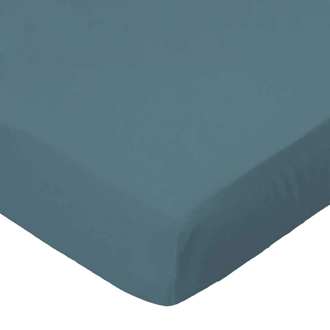 SheetWorld Fitted Bassinet Sheet - Solid Teal Woven - Made In USA by sheetworld   B00BXLB7JS