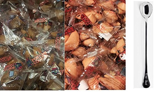 Fortune Cookies Fresh Single Wrap golden Bowl 50 pcs (25 Chocolate + 25 Vanilla Flavor ) + One NineChef (Chocolate Fortune Cookies)