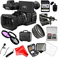 Panasonic HC-X1000 Camcorder with Fisheye Lens + 64GB Card + Waterproof Case + LED Light + Microphone Set + Filters Kit