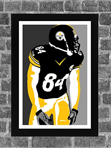 Pittsburgh Steelers Wrapping Paper - Pittsburgh Steelers Antonio Brown Portrait Sports Print Art 11x17