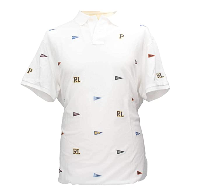 Polo Ralph Lauren 710721083002 Polo Hombre Blanco XL: Amazon.es ...