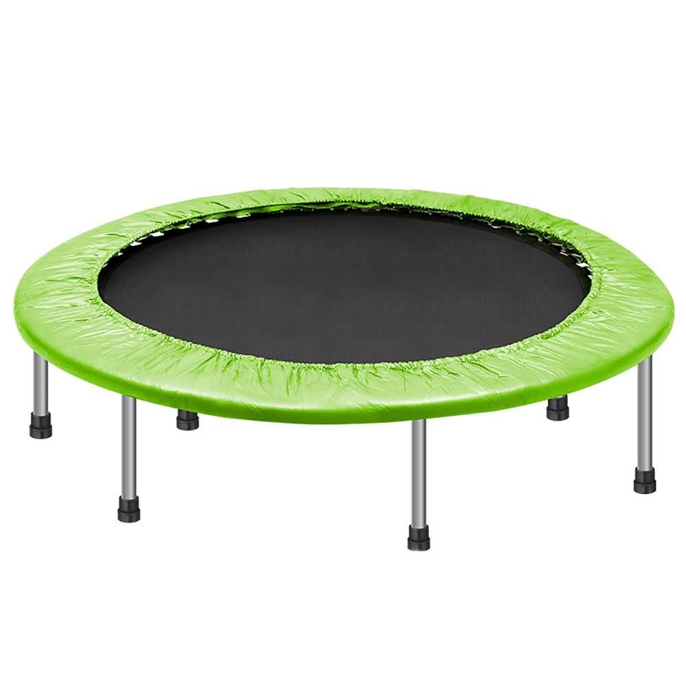 lumière vert  Trampolines d'intérieur Trampolines Fitness Bounce dépliables avec Coussin de sécurité et Cache-Ressort, Appareils de Musculation pour Adultes, Charge maximale 150 kg, Couleurs en Option