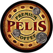 Pelis Family Name Coffee Rubber Drink Coasters - 4 pcs
