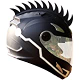 Autonity Cuttable Rubber Mohawk Spikes for Helmets (Black)