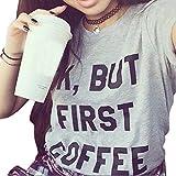 Gillberry Women Summer Vest Short Sleeve Blouse Casual Tank Tops T-Shirt (L, Gray) offers