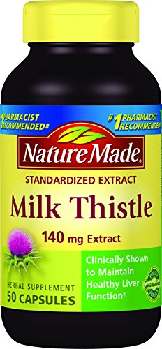 Nature Made Milk Thistle 140 mg Capsules 50 Ct