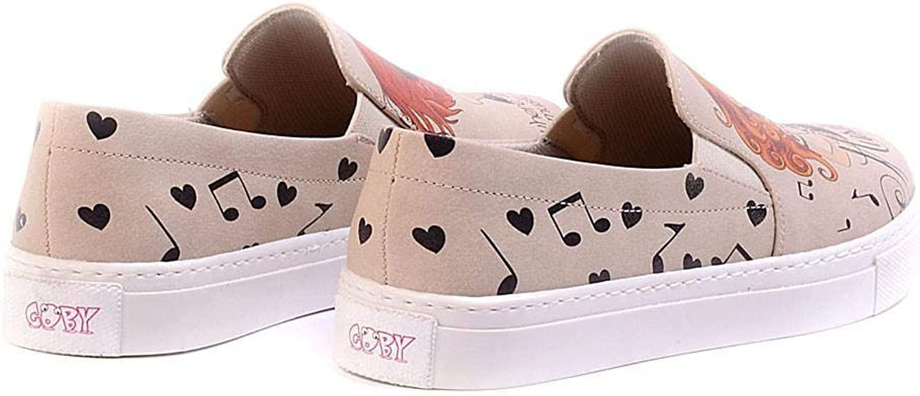 Violinist Girl Slip on Sneakers Shoes VN4023