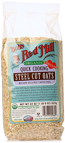 Bob's Red Mill Organic Quick Cook Steel Cut Oats, 22 Ounce