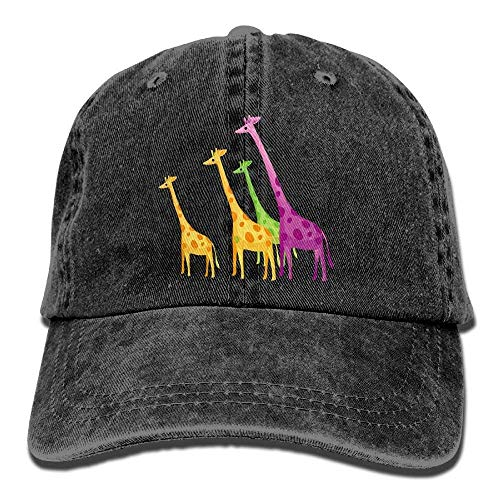 DEFFWB Skull Hat Men Women Denim for Hats Sport Cowgirl Color Giraffe Cap Cowboy aIa1rxqd