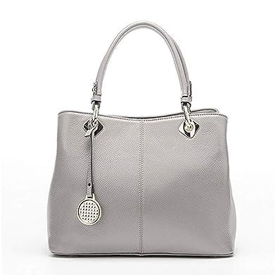 8face580da98 JVPS147-G 2018新しい 本革 グレー ファッショントレンド女性のハンドバッグ袋のハンドバッグ