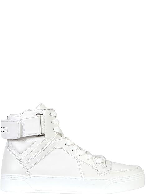 Gucci - Zapatillas de Gimnasia Hombre, blanco (blanco), 41.5 IT - Taille Fabricant 7.5: Amazon.es: Zapatos y complementos