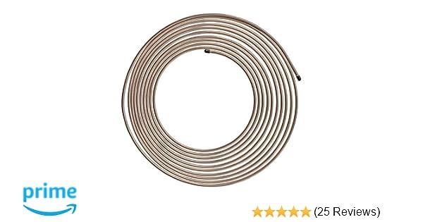 Black Vinyl Brake Line Tubing Kit 1//4 OD 25/' Foot Coil Roll AN 45 Flare SAE