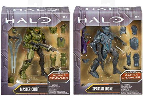 "Halo 6"" Action Figure Alpha Crawler Series Master Chief & Spartan Locke Build A Figure 2-Pack"