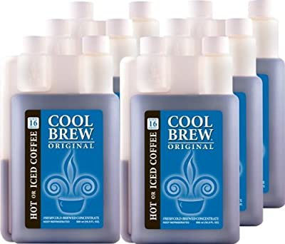 Cool Brew Fresh Coffee Concentrate - Original 6x500ml - Make Iced Coffee or Hot Coffee - Enough for 100 drinks