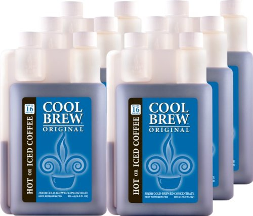 Cool Brew Fresh Coffee Concentrate - Original 6x500ml - Make Iced Coffee or Hot Coffee - Enough for 100 drinks by CoolBrew