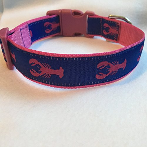 (Lobster Dog Collar, Puppy Collar, Custom Dog Collar, Personalized Dog Collar, Preppy Collar, Nautical Dog Collar)