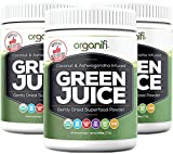Organifi - Green Juice Super Food Supplement (270g) 30 Day Supply. USDA Organic Vegan Greens Powder by Organifi (3 Jar Value Pack)