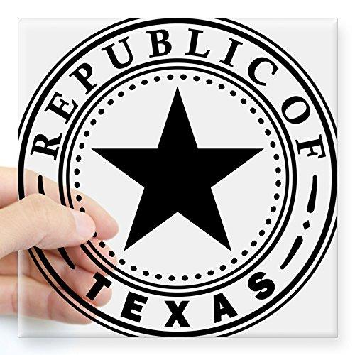 CafePress Republic of Texas Square Sticker 3 X 3 Square Bumper Sticker Car Decal, 3