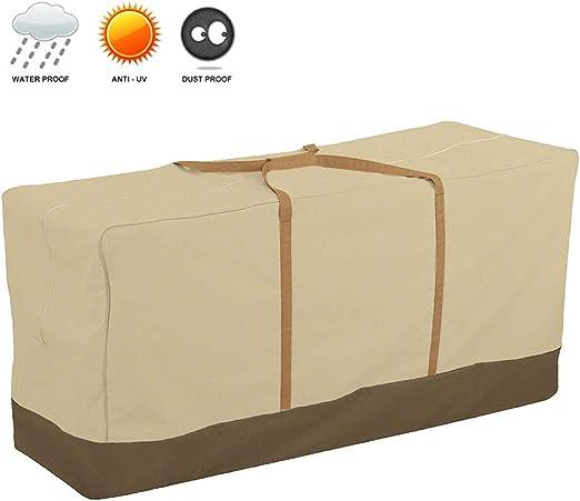 152x71x51 cm, 600D JTWEB Custodia per Cuscini da Arredamento Esterno Protezione per Cuscini per Sedie//Panche da Giardino
