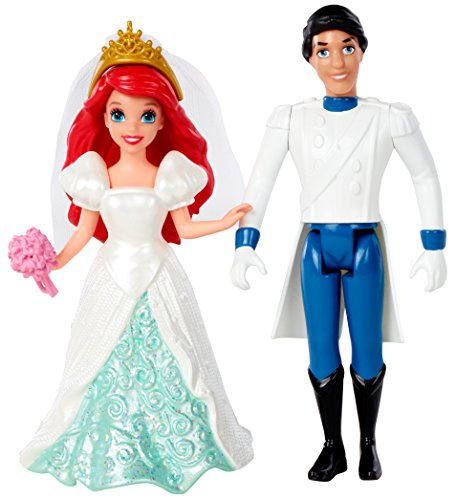 Disney Princess Little Kingdom Magiclip Ariel Fairytale Wedding Dolls