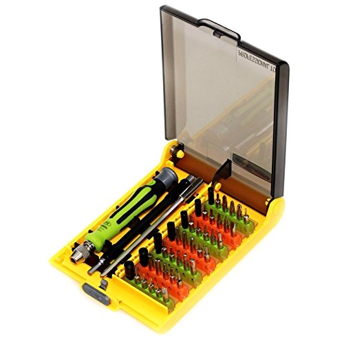 DELANSHI Precision Screwdriver Set with Assorted Bits/Extension/Collets 45 in 1 Mobile Phone Maintenance Tool Repair Tools