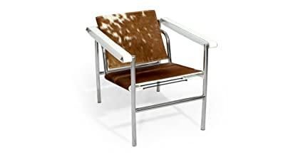 Exceptionnel Kardiel Sling Chair, Brown U0026 White Cowhide Leather