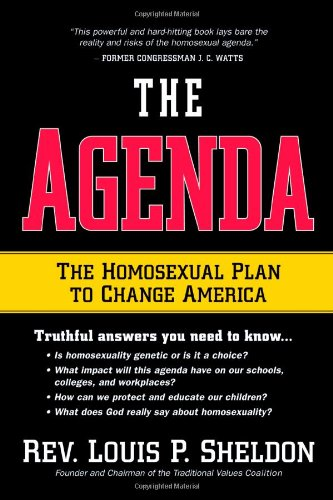 The Agenda: The homosexual plan to change America pdf epub