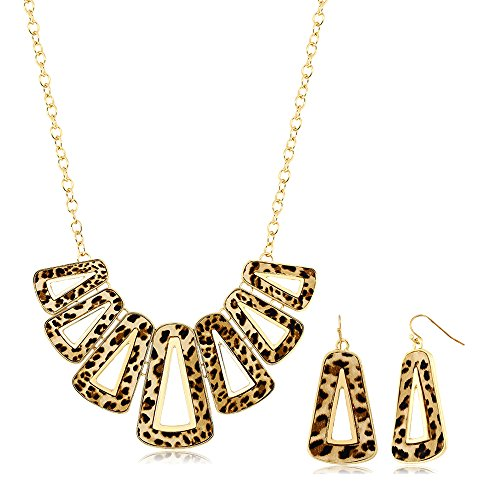 Stunning Leopard Geometric Earrings Necklace product image