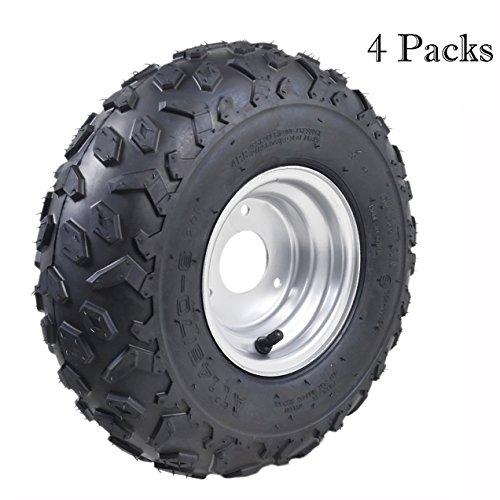 - TDPRO 145/70-6 ATV Go Kart Quad Tires and Rims | 4PR Wheels (Set of 4)