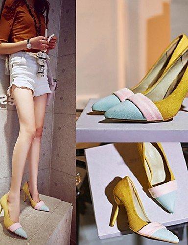 GGX/Damen Schuhe Fleece Sommer/Herbst Heels/spitz Toe Heels Büro & Karriere/Casual Stiletto Heel Split Gemeinsame gelb/beige beige-us9 / eu40 / uk7 / cn41