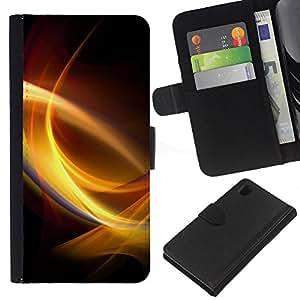 YiPhone /// Tirón de la caja Cartera de cuero con ranuras para tarjetas - Remolinos de luz - Sony Xperia Z1 L39