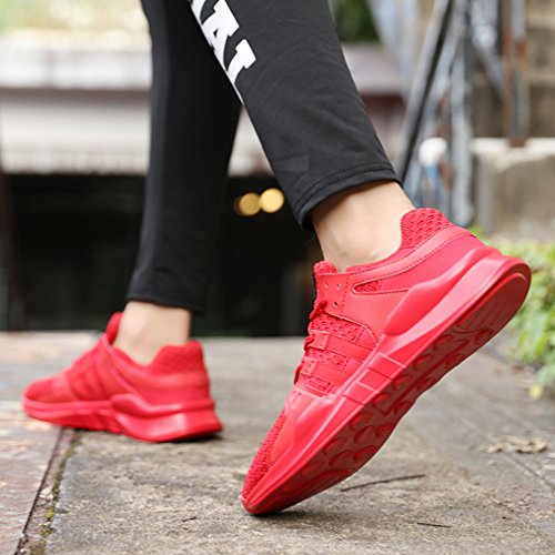 Sport Sneakers Outdoor Corsa Mesh da Fitness 716rosso Uomo Donna Sportive Tennis Ginnastica Trekking Unisex Adulto Basse Respirabile Scarpe GUDEER Shoes Running t78qF
