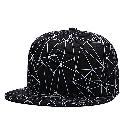 - White Lasers Snapback Cool Flat Bill Visor Hat Black Dad Caps Top Baseball Cap